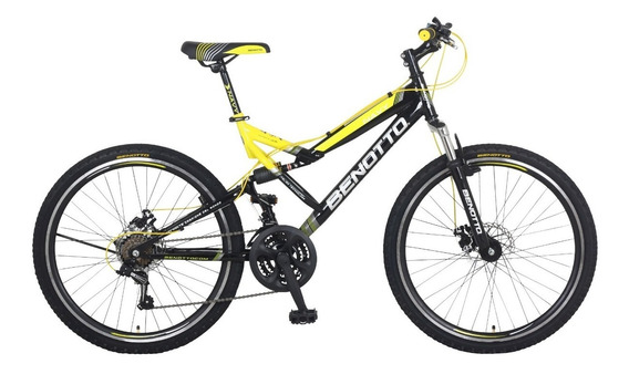 Bicicleta Benotto Navy Montaña Acero R26 21v Shimano Negro