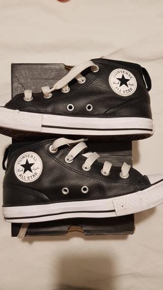 Zapatillas Converse All Star De Cuero Para Niños, Talle 2 Us