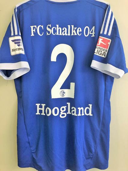 Camisa Schalke 2012/13 Hoogland #2 Tamanho G