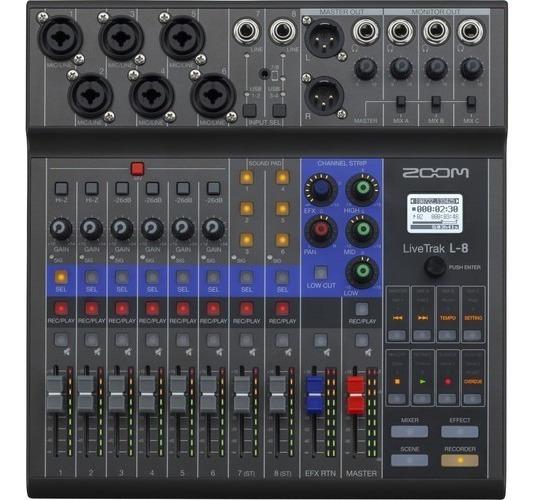 Mesa De Som Livetrak L-8 Mixer Zoom Interface Audio Original