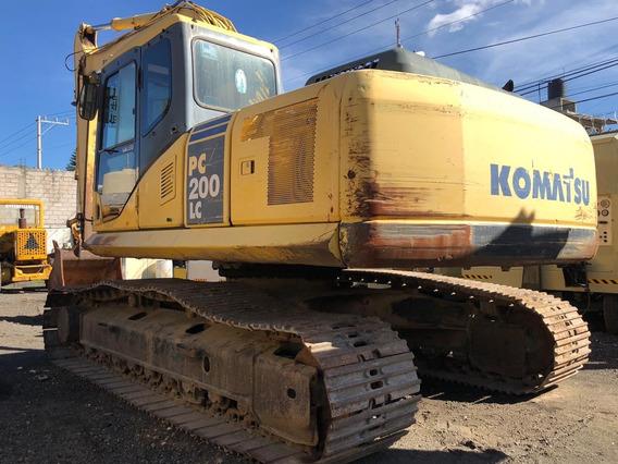 Excavadora Hidraulica Komatsu Pc200 Sobre Orugas