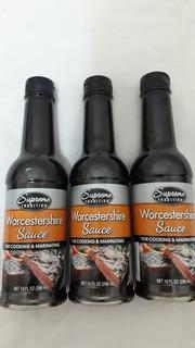 Kit 3 Worcestershire Sauce Molho Ingles Cozinhar 296ml