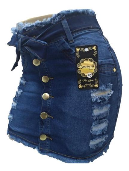 Saia Jeans Feminina Plus Size 36/54