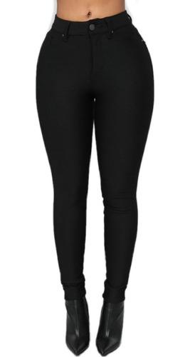 Pantalon Mujer Vestir Elastizado Tiro Alto Talles Grandes Mercado Libre
