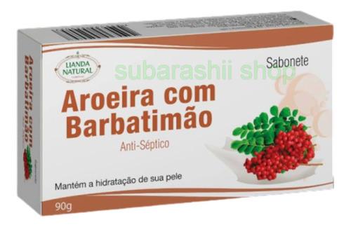 12 Unidades De Sabonetes De Aroeira C/ Barbatimão - 90gramas