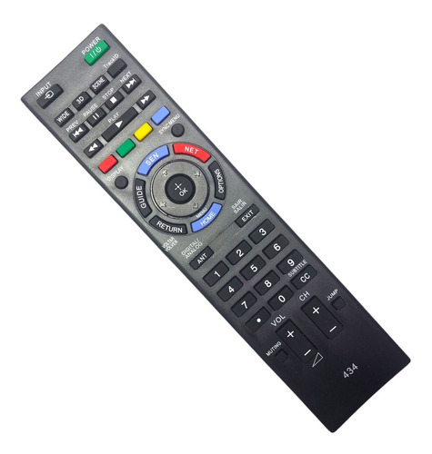 Control Remoto Sony Led Smart Tv Bravia Tecla Netflix Rc434