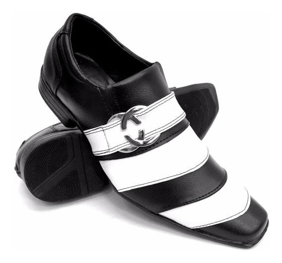 Sapato Masculino Social Fino Bico Quadrado Luxo Executivo