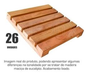 Kit 26 Unidades Deck De Madeira Modular Base 30x30 Cm Neonx