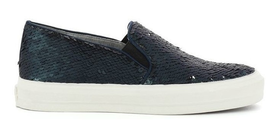 Sneakers Nine West, Color Azul Con Plateado, Envio Gratis