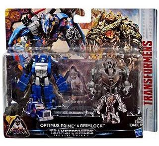 Transformers El Último Caballero Optimus Prime & Grimlock J