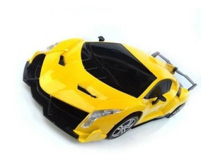Carro Carrinho Controle Remoto 4 Funções Lamborghini Amarelo