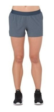 Short Asics Brief Woven 3.5 Gris 4553 Mujer Running