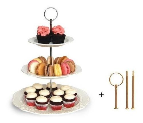 Intercalable De 2 O 3 Niveles Cake Cupcake Postres Display P