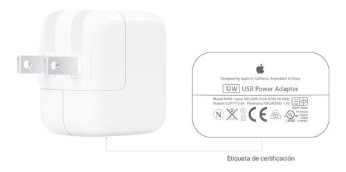 Cargador Apple iPad- iPhone- iPod 12w Original 100%