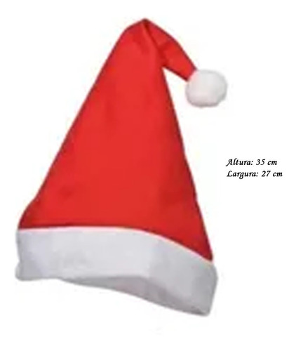 15 Gorro Touca De Papai Noel Festa Natal Promoção Atacado
