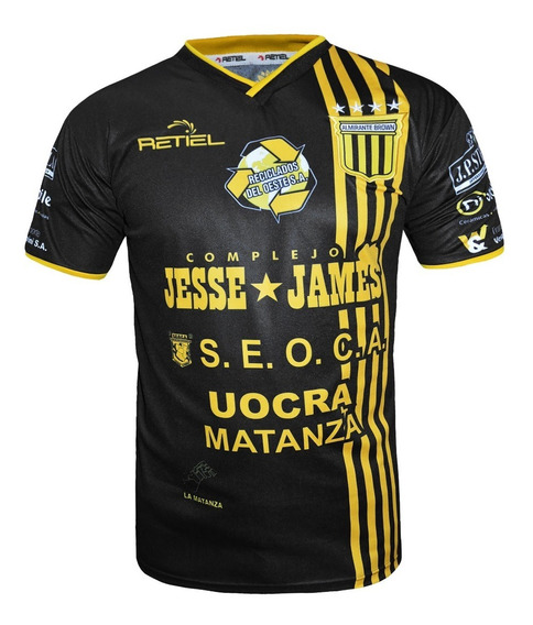 Camiseta Alternativa Almirante Brown Retiel 2019 Original Negra