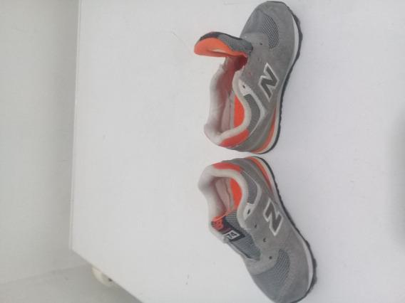 Zapatos Goma New Balance Niño Unisex Como Nuevo Gris Naranja