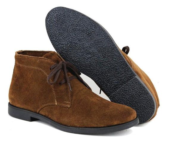 Botina Luxury Desert Boots Chelsea Sir.w Com Cadarço Café...