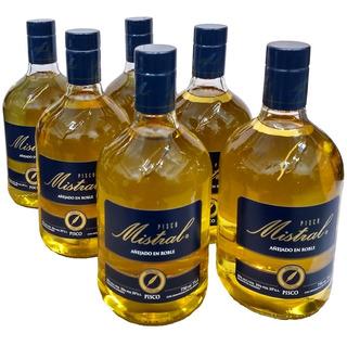 Combo Pisco Mistral Chileno 35° Caja Por 6 Botellas