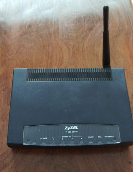 Modem Router Zyxel P 600 Series S/cargador