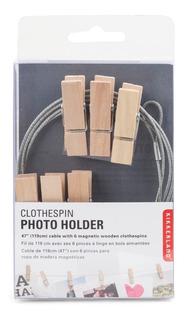 Cable Con Pinzas Madera