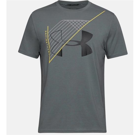 Camiseta Under Armour Warped Route Sleeve Masculina Original