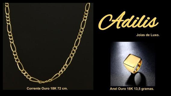 Corrente Ouro Masculino 18k(750) 8,2 Gramas 70cm.