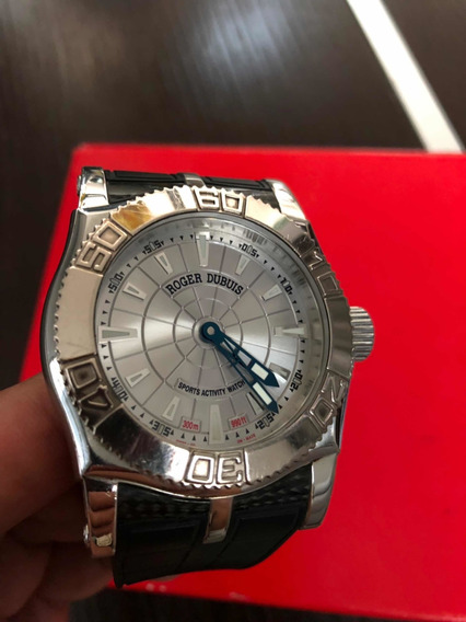 Reloj Roger Dubuis Easy Diver Acero Ext. Caucho Cristal Zaf.