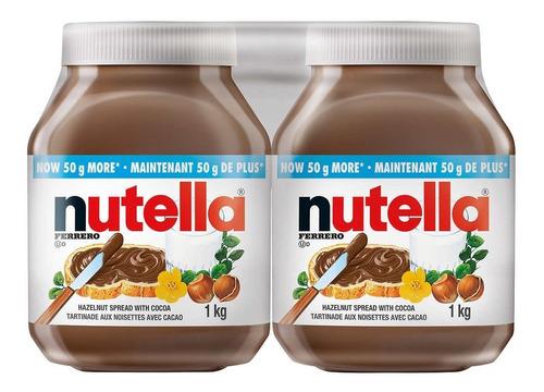 Imagen 1 de 1 de Nutella Paquete De 2  950 Grs