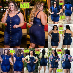 Vestido Jeans Chic Plus Size Tamanho Grande Wonderful 90556