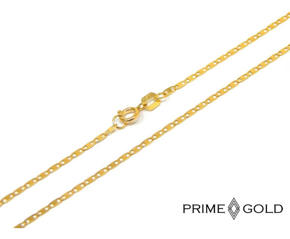 Corrente Colar Cordão Em Ouro 18k Piastrine 45cm