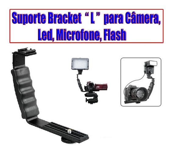 Suporte Bracket Em Forma L Com 2 Sapatas, P/ Led, Microfone