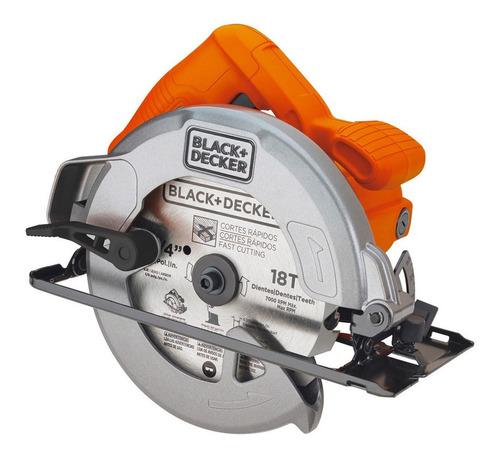 Sierra circular eléctrica Black+Decker CS1004 184mm 1400W 50Hz naranja 220V