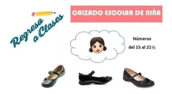 Lote De 5pz Zapato Escolar De Niña