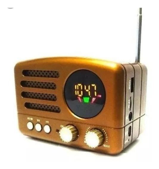 Rádio Retrô Lelong Bluetooth Am/fm Pen Drive Recarregável