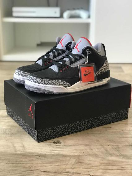 Nike Air Jordan 3 Black Cement Og Retro