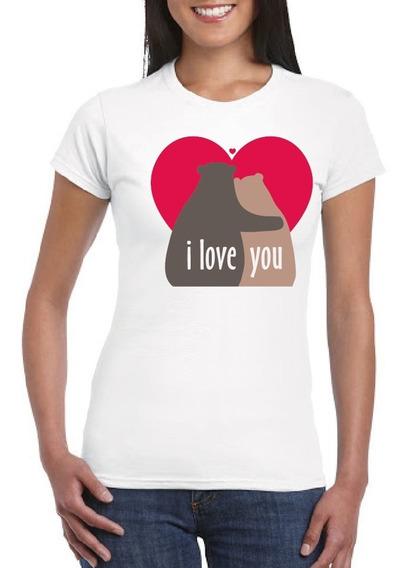 Playera Pareja Osos I Love You , Amor, Novios, Love34