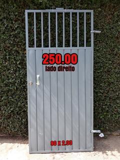 Portao De Ferro Novo Medida 90 X 2.00 Altura