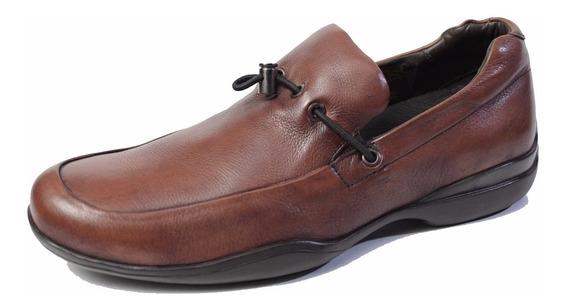 Zapato De Cuero Democrata Hombre Mocasin Air Concept 257013