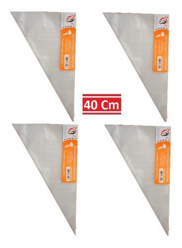 Saco De Confeitar/manga Descartável 40cm- Médio 200 Unidades