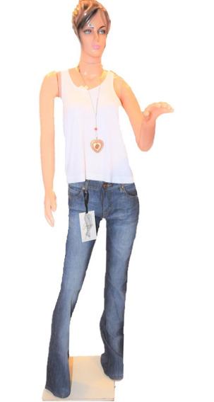 Maria Cher Pantalon Semi Oxford Retro Blue Localizado Nuevo