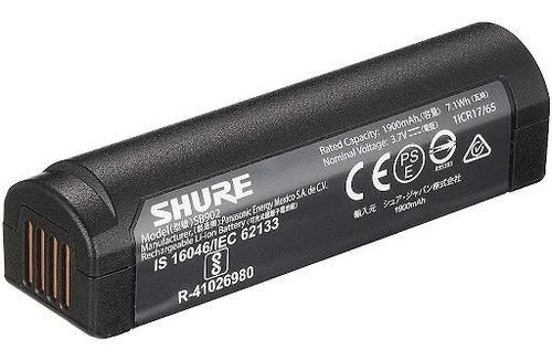 Shure Sb902 Bateria Litio Recargable P/ Sistema Inalambrico