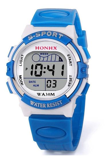 Relógio Infantil Honhx W50 Azul Celeste + 01 Brinquedo