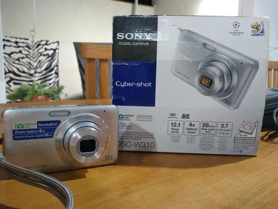 Máquina Fotográfica Digital Sony, Modelo Dsc-w310