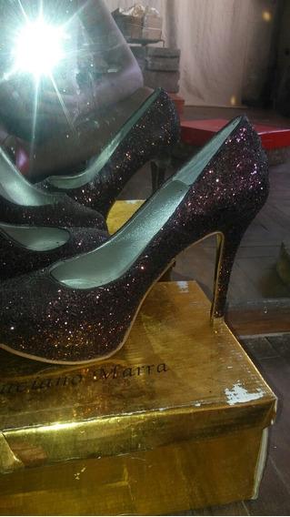 Stilettos De Cuero Zapatos Tipo Paruolo