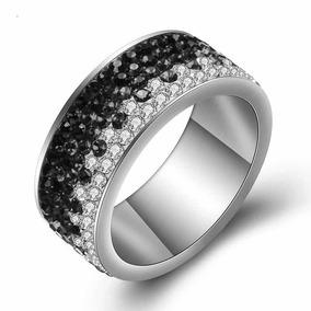 23b05de9a6c2 Joyas Swarovski Anillo Cintillo De Cristales Negros Degrade