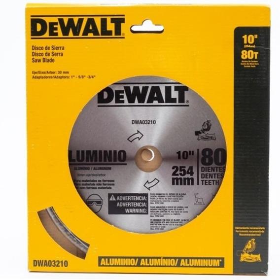 Disco Sierra 10 80 Dientes Aluminio Dewalt Dwa03210