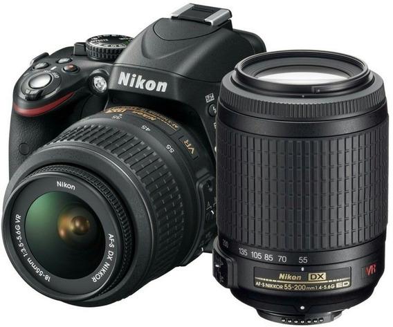 Nikon D5200 + 18-55 + 55-200 + Cartão 32g + Acessórios