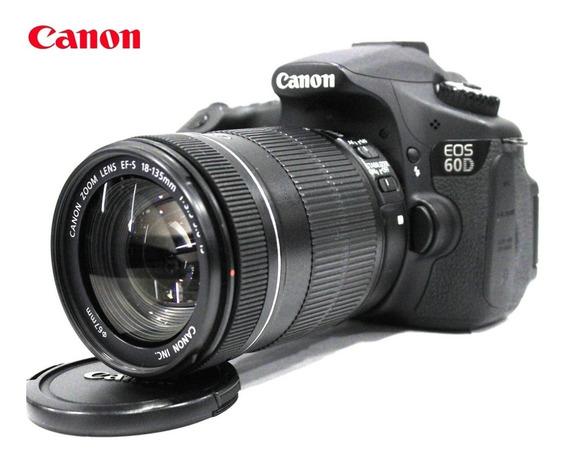 Canon Eos 60d 18mp Full Hd Kit 18-135mm Is - Só 4.791 Clicks