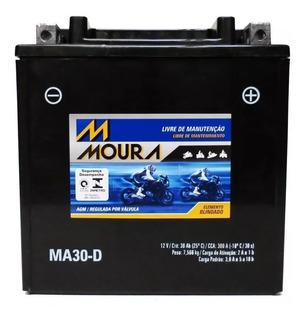 Bateria Moto Moura Harley Davidson Ultra Limited Ma30-d -